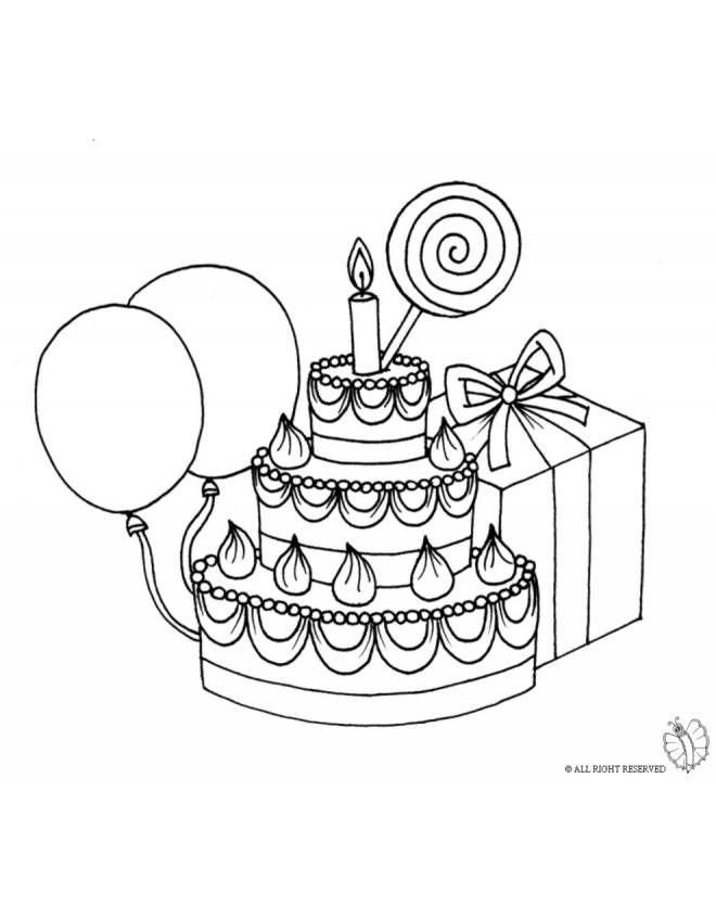 Disegni Da Colorare Torte Compleanno.Disegno Di Torta Compleanno Con Lecca Lecca Da Colorare Disegno