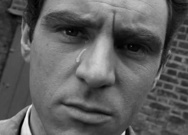 "The genius of Anthony Newley in a still from his short-lived British television series, ""The Strange World of Gurney Slade"" (1960). It only had a 6 episode run, probably because it was far too ahead of its time."