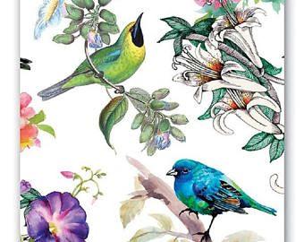 4 Decoupage Napkins | Four Vintage Wild Ducks | Duck Napkins | Bird Napkins | Wildlife Napkins | Paper Napkins for Decoupage