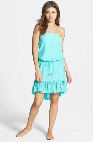 1d1f19990b4d9 Juicy Couture Beach 'Prima Donna' Lace Strapless High/Low Cover-Up Dress  available at #Nordstrom