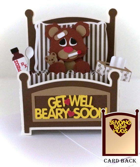 Goed Bear kaart krijgen In een vak 3D SVG