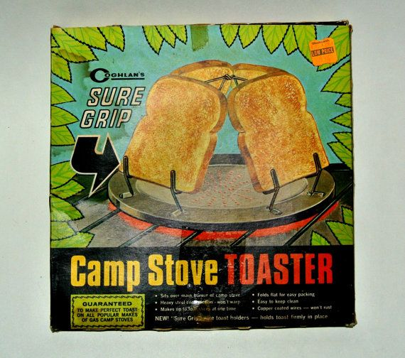 Vintage Camp Stove Toaster Coghlan's Sure Grip Rustic Primitive Country Decor