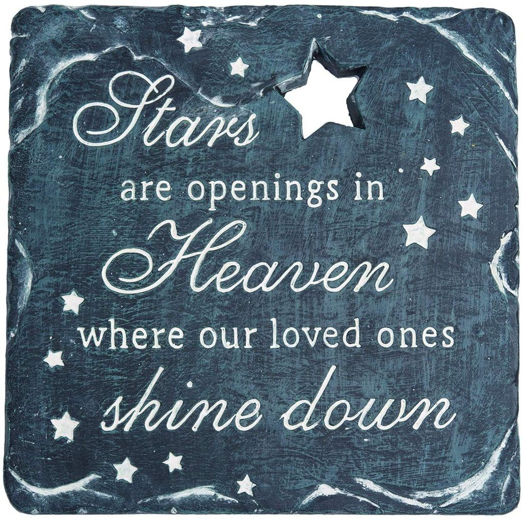Tenwaterloo Memorial Garden Stepping Stone Stars Are Openings In Heaven Where Our Loved Ones Shine Down 9 3 4 Inches In 2020 Garden Stepping Stones Memorial Garden First Love