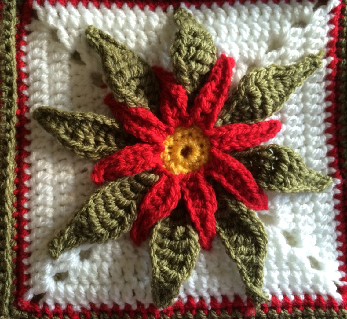 Crochet Poinsettia | juani | Pinterest | Ganchillo, Navidad 2017 y ...