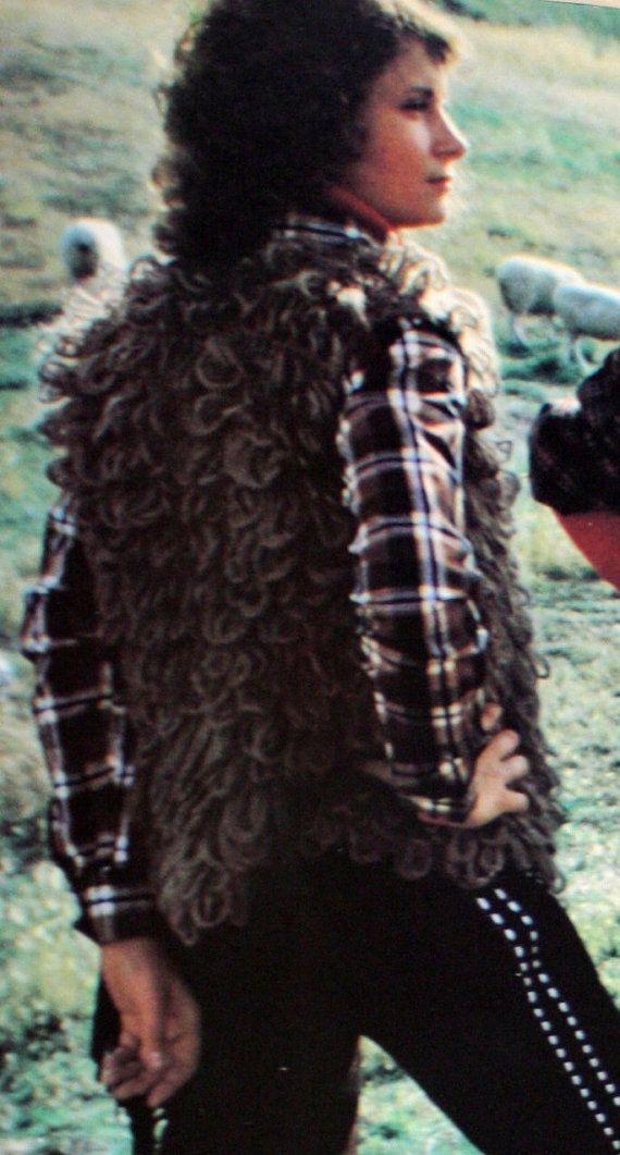 1980's SHAGGY VEST GILET  vest yeti vest Flash by Ablast2thepast, $60.00