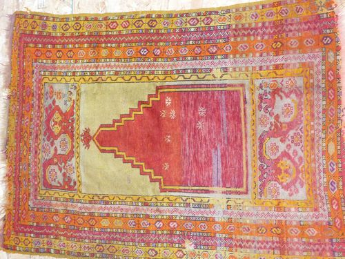 antique anatolian kirsehir prayer rug bought in 1980 in an old carpet shop in istanbul