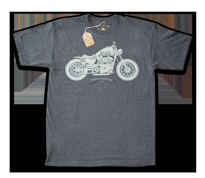 Sixty Three Motorcycle Sportster Design Illustration Shirt