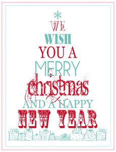 Free Christmas Printable Subway Art — Printable Decor