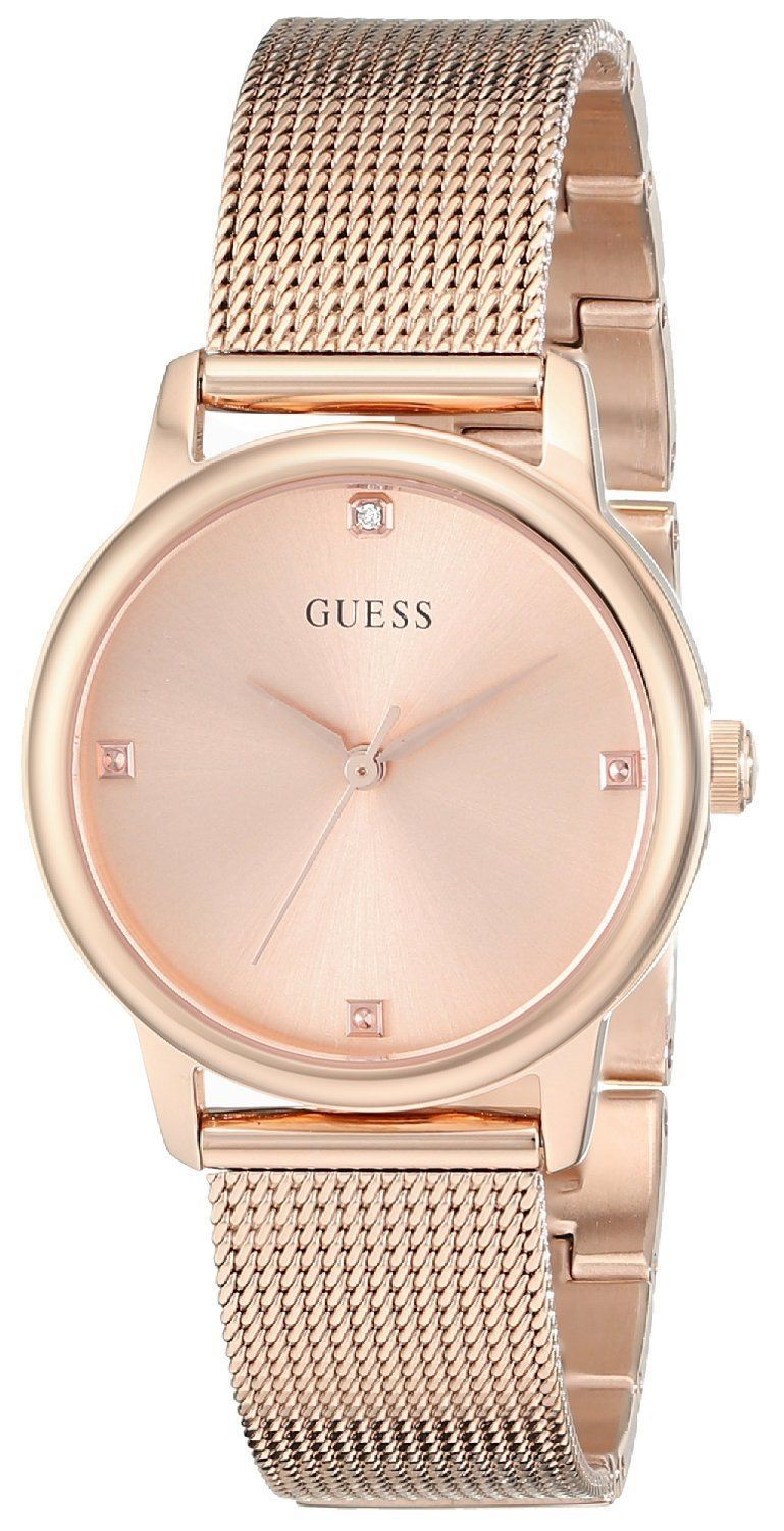 Gold Rose watch guess