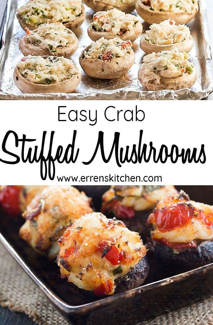 Photo of Easy Crab Stuffed Mushrooms