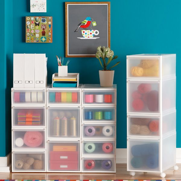 Use Our Like It® Translucent Stacking Drawers In A Closet, Office, Craft  Room Or Garage For Easy, Accessible Storage. The Three Sizes Are Stackable,  ...