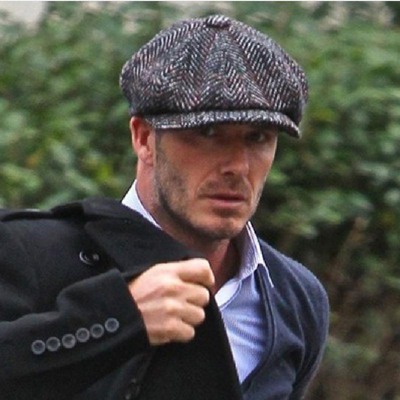best website 9ac00 b9de6 David Beckham Vintage Newsboy Wool Beret Cap