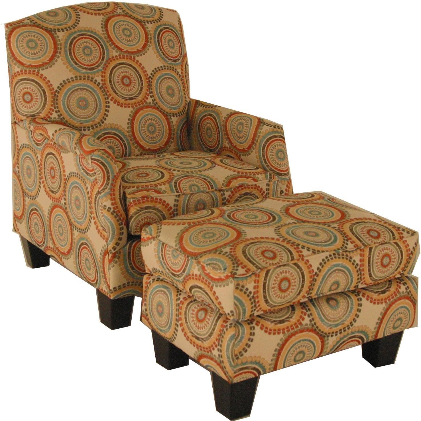 Accent chairs and ottomans transitional chair and ottoman