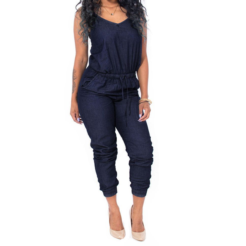 Fashion week Jean blue jumpsuits for women for woman