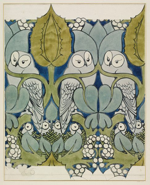 Charles Francis Annesley Voysey (1857–1941) was an English architect and furniture and textile designer. Voysey's early work was as a designer of wallpapers, fabrics and furnishings in a simple Arts and Crafts style, but he is renowned as the architect of a number of notable country houses. He was one of the first people to understand and appreciate the significance of industrial design.
