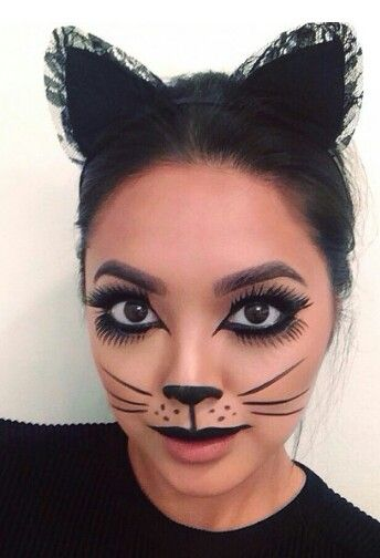 Pin by Nakita Presnell on Halloween Pinterest Kitty, Cat and - easy makeup halloween ideas