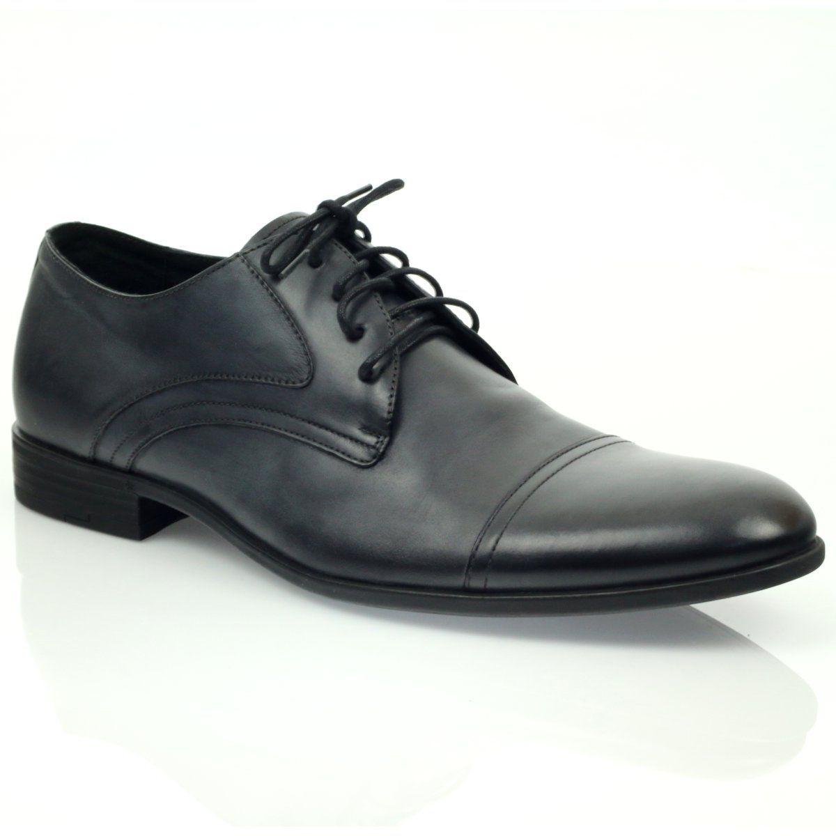 Polbuty Buty Meskie Skorzane Pilpol 1674 Szare Dress Shoes Men Dress Shoes Oxford Shoes