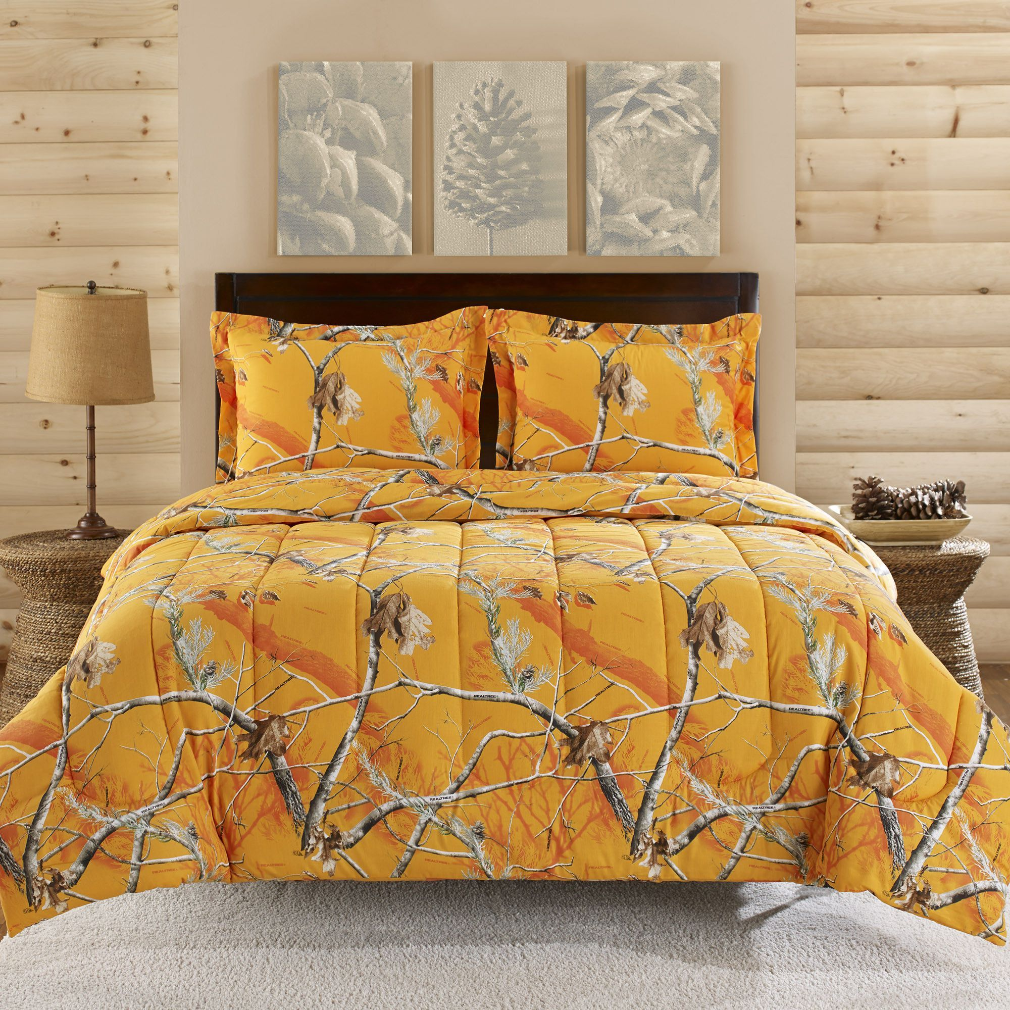 Realtree Comforter Mini Set Orange In 2019 Camo Bedding