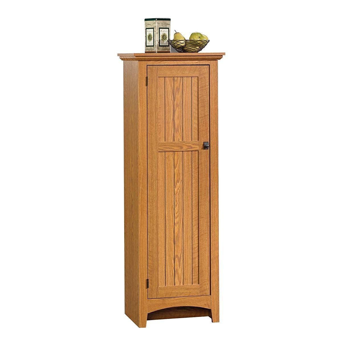 Sauder Summer Home Pantry Carolina Oak Finish Pantry Cabinet Pantry Storage Cabinet Sauder