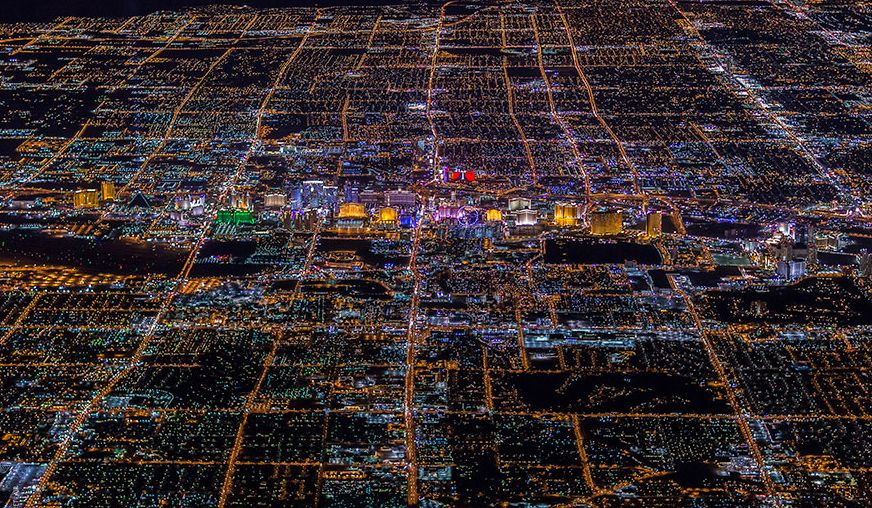 These amazing photographs show Sin City at night. Famous photographer Vincent Laforet night photos of urban cities, and these photos of Las Vegas are awe-inspiring.