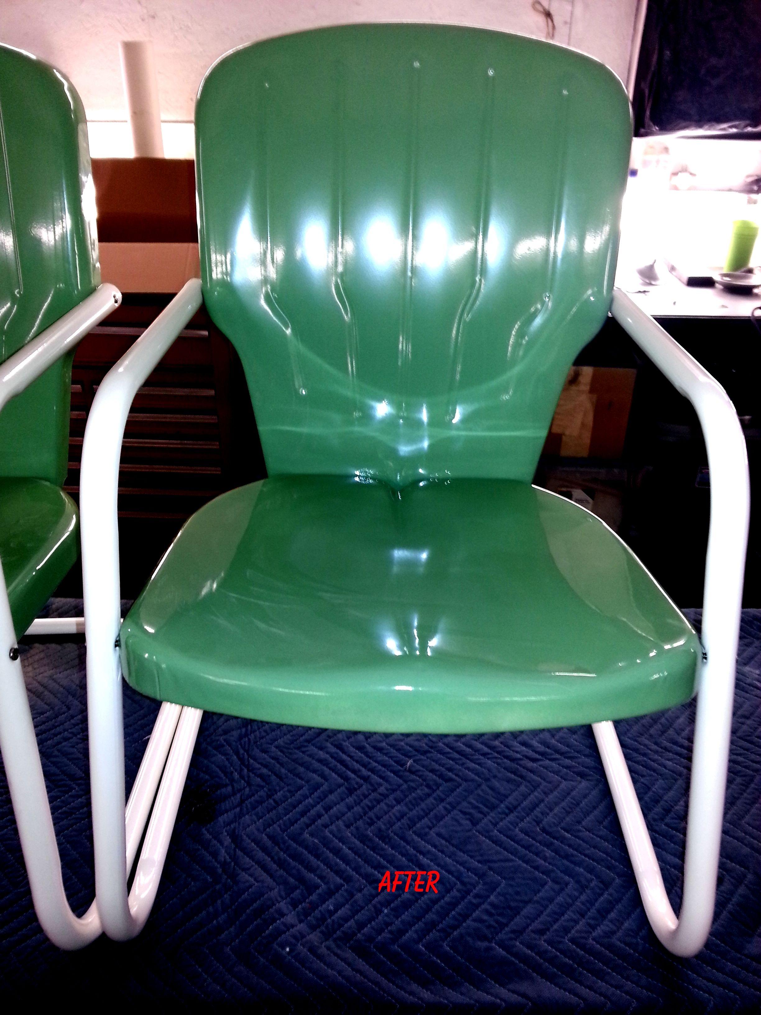 Set of restored chairs back to original color wwwrksdtt
