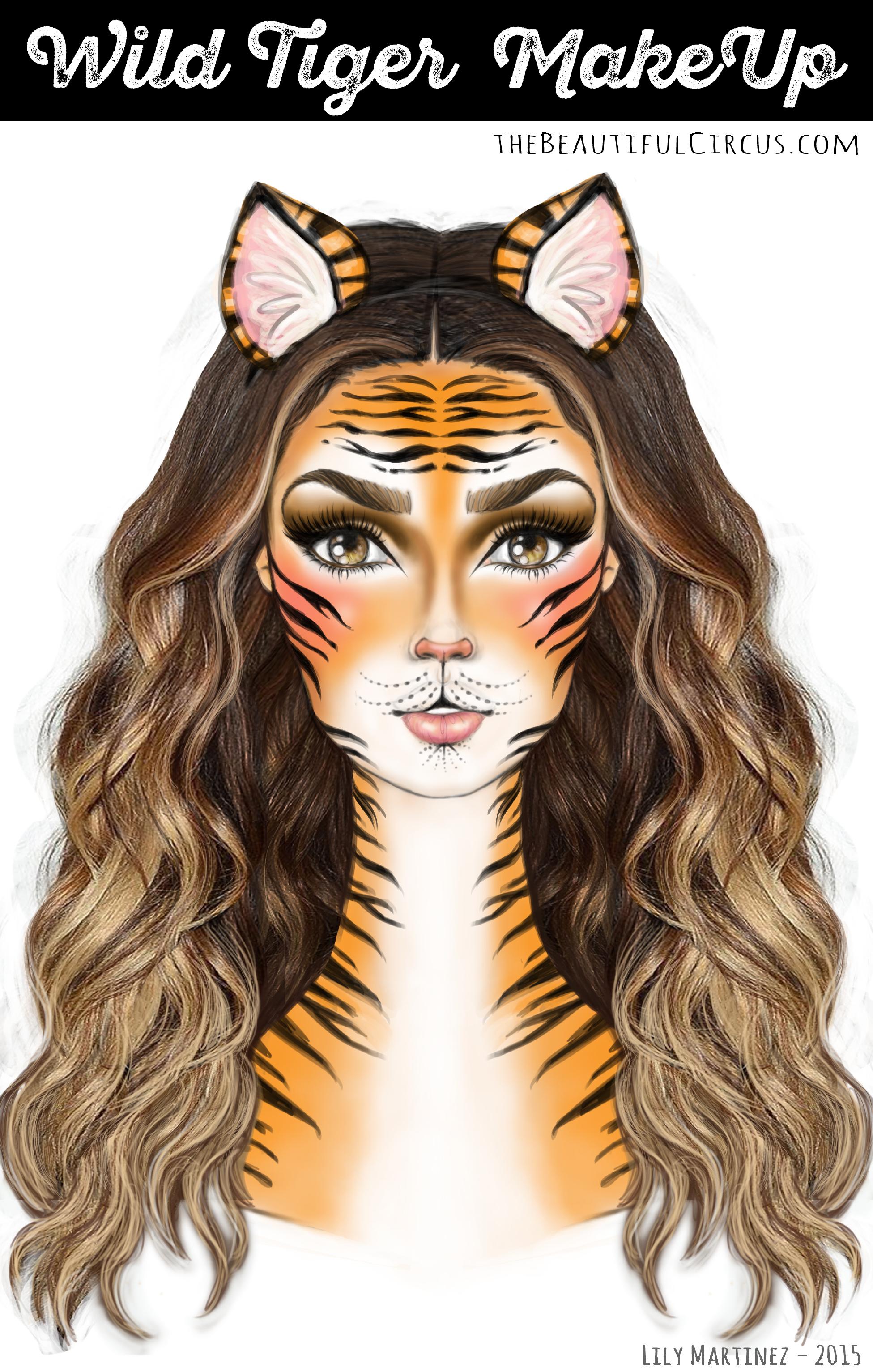 Wild Tiger_MakeUp Look | Halloween | Pinterest | Tiger makeup ...