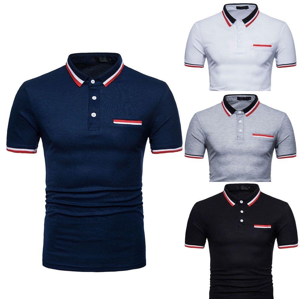 Men Summer Polo Shirt 2019 Brand Men's Fashion Cotton