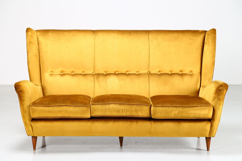 Fantastic For Sale Velvet Fabric Sofa By Gio Ponti For Arredamenti Machost Co Dining Chair Design Ideas Machostcouk