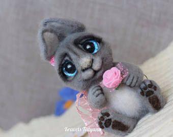 Pocket felted bunny, Needle felted animals, needle felted bunny, felt little toy, felt toy bunny, fe #needlefeltedbunny