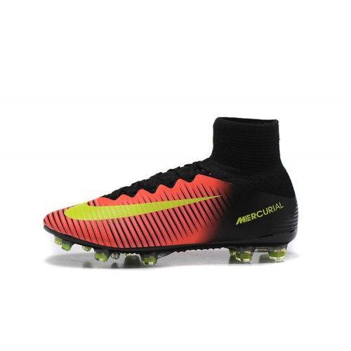 best service 7ba97 1ebe5 Barato Nike Mercurial Superfly V FG Botas De Futbol Naranja Negro - Botas  De fútbol Nike