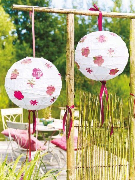 Einfache Bastelanleitung für hübsche Garten-Lampions Lampions
