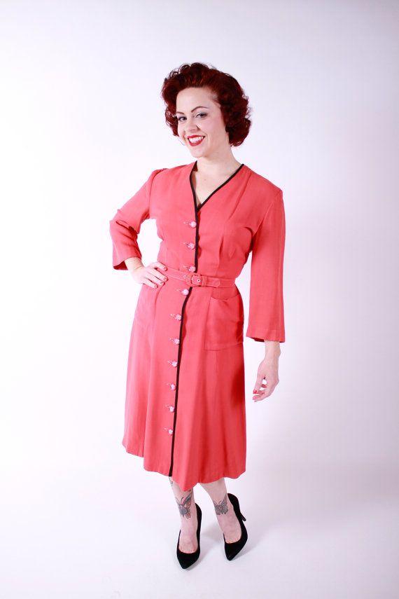 Gabardine 40s Shirtwaist dress