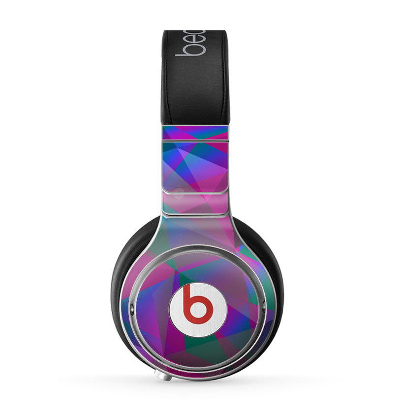 The Raised Colorful Geometric Pattern V6 Skin for the Beats by Dre Pro Headphones