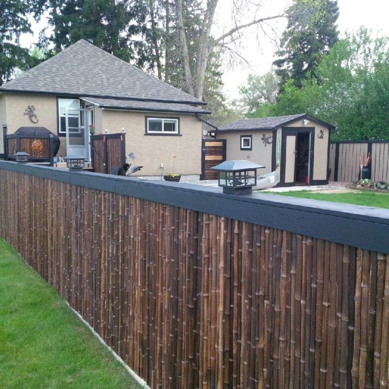 Installing A Bamboo Friendly Fence On A Chain Link Fence Diy