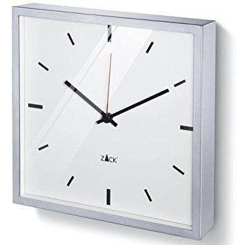 ZACK Wanduhr DURATA 60061, weiß, eckig, 26 x 26 cm Küche Pinterest - küchen wanduhren design
