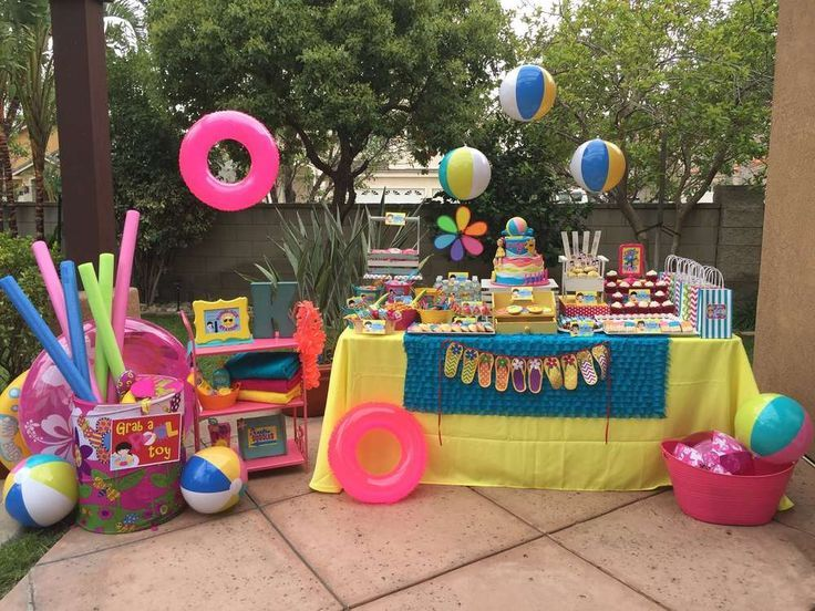 Swimming Pool Summer Party Ideas