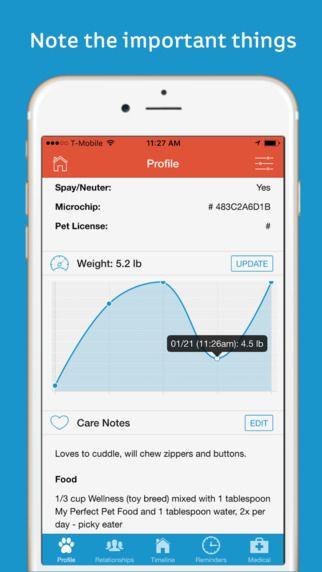 pawprint pet health tracker by pawprint neat pet apps