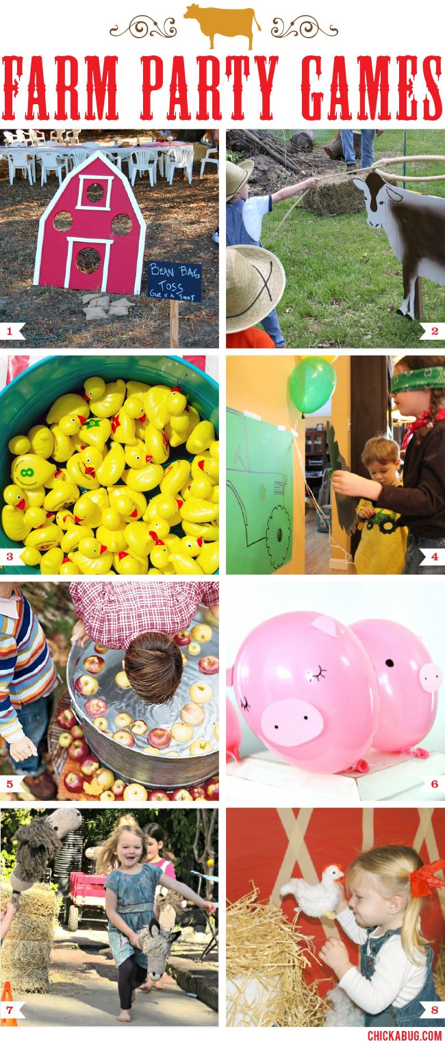 Farm Theme Party Games Kids Party Ideas Farm Party Games Farm
