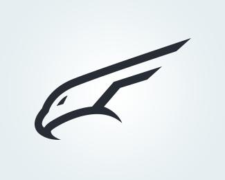 Falcon Letter F Logo By Travishd Bird Logo Design Pet Logo Design Geometric Logo Design