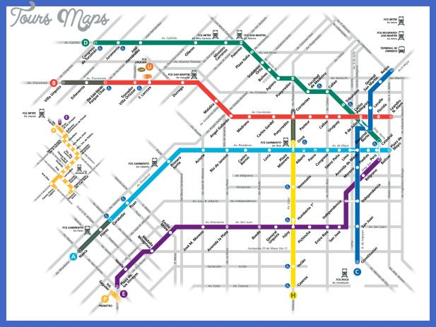 Argentina Subway Map.Awesome Argentina Metro Map Tours Maps Subway Map Buenos Aires Map