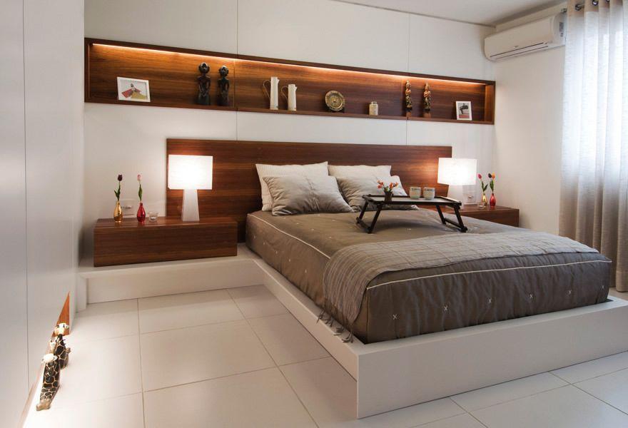 cama de casal em quarto pequeno Pesquisa Google  ~ Quarto Pequeno Sob Medida Casal