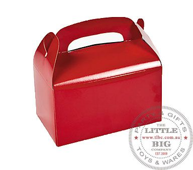 Coloured Treat Cardboard Boxes Red Colour Favor Bags And Boxes