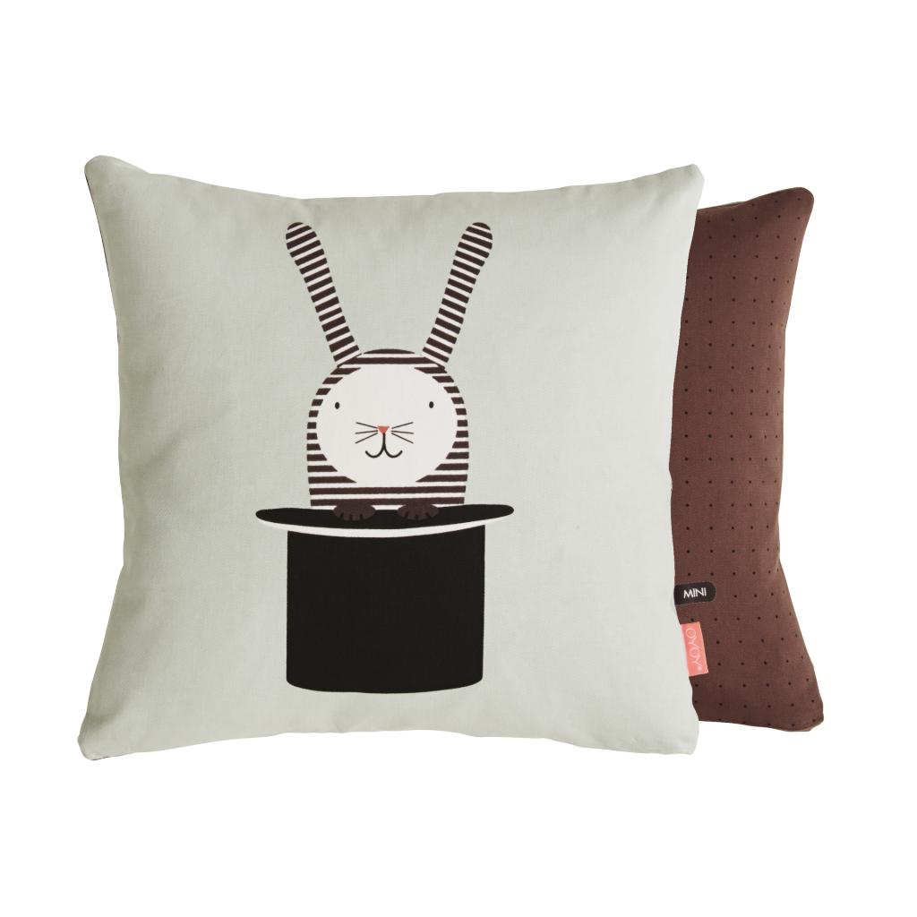 Kissen Rabbit In Hat Kind Of Mine Cushions Plaids Kids