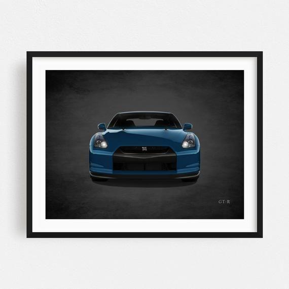 Car Art Canvas, Car Art Prints, Car Artwork, Nissan GTR Poster, Nissan GTR Print, Nissan GTR Art, Sports Decor, Sports Wall Art #nissangtr