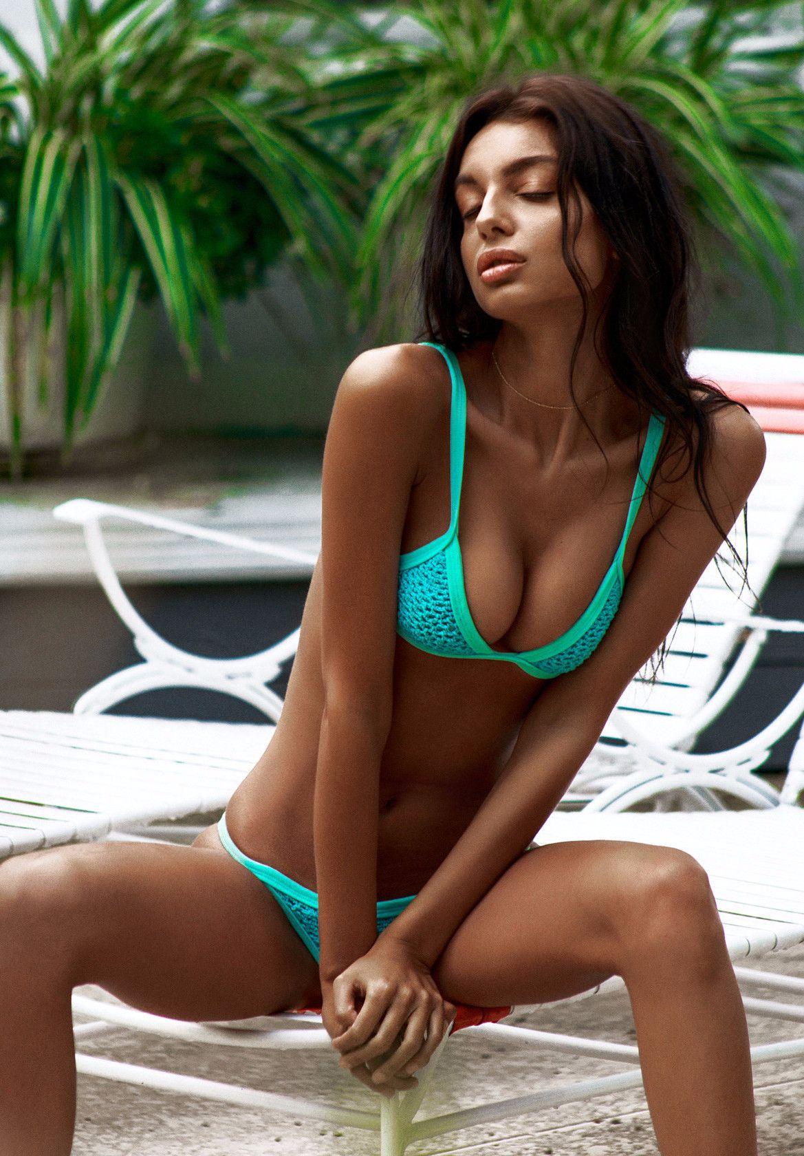 Posh Pua Kainalu Crochet Bikini in Lagoon  This color