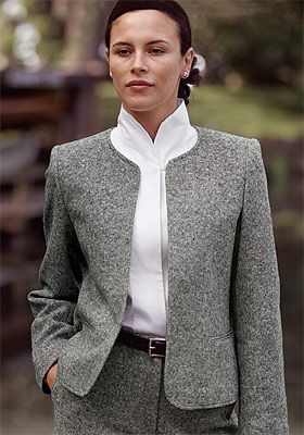Just found this Womens Dress Jacket - Donegal Tweed Cardigan ...