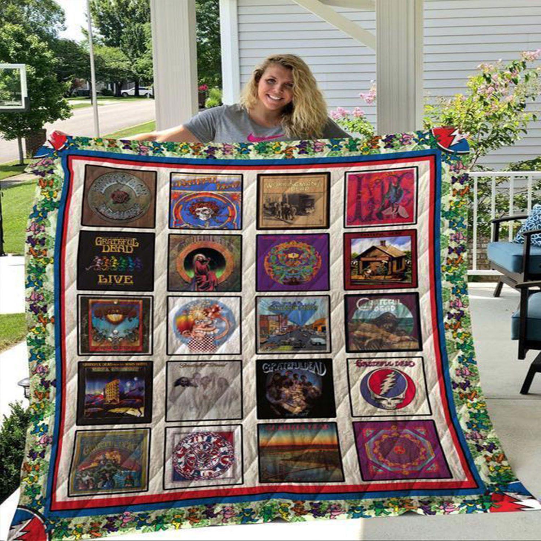 Grateful Dead Fleece Blanket Grateful Dead Lover Blanket Gifts