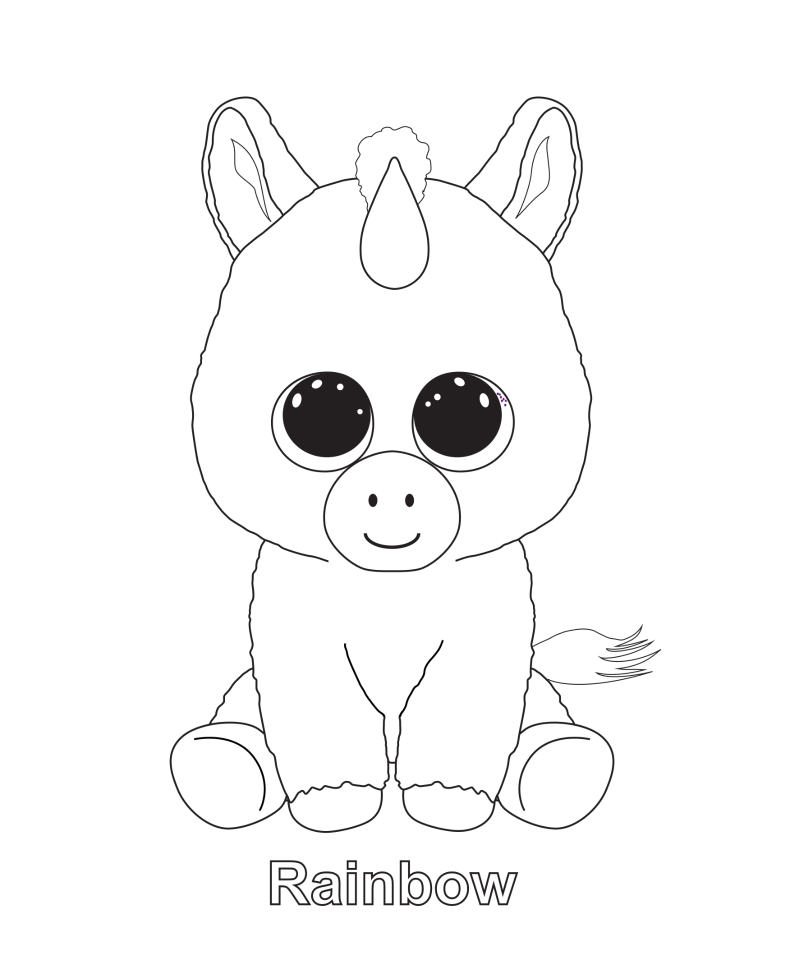 ty beanie babies coloring pages - rainbow childrens 39 coloring pages pinterest rainbows