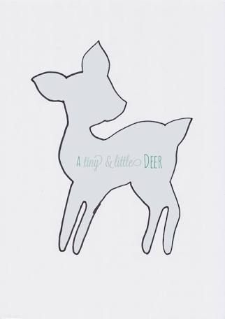 Image result for deer template Baby items Pinterest Template