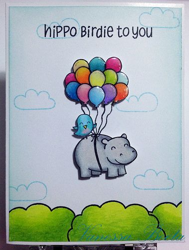 Hippo Birdie To You Lawn Fawn Lawn Fawn Stamps Lawn Fawn Blog